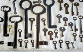 A selection of old keys