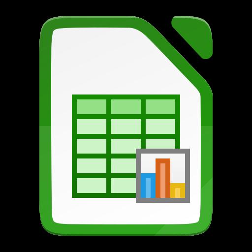 The LibreOffice Calc icon
