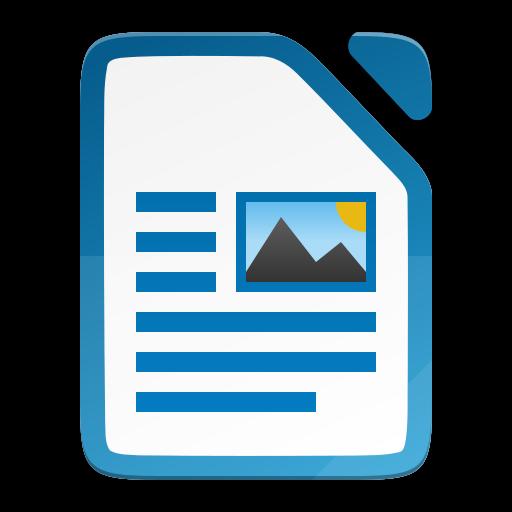 The LibreOffice Writer icon